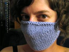 A Free Knitting Pattern for a Doctors' Face Mask, to keep you busy during the spread of Coronavirus Potholder Patterns, Knitting Patterns Free, Knit Patterns, Free Knitting, Free Pattern, Blanket Patterns, Crochet Mask, Crochet Faces, Free Crochet
