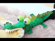 양말 손인형 - 악어 인형 만들기 Sock Puppet - Alligator - YouTube