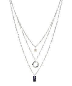 Loving this Swarovski® Crystal & Silvertone Night Layered Necklace on #zulily! #zulilyfinds