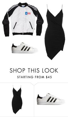 """Untitled #448"" by sarahtwohig ❤ liked on Polyvore featuring Topshop and adidas Originals"