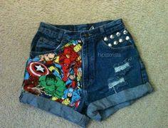 Super hero DIY shorts