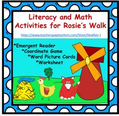 Have fun with Rosie the hen with this packet of activities based on the classic picture book by Pat Hutchins! Inside you will find these fun and educational activities: ** Rosie Coordinate Game:: Play a game in which you place your token according to coordinates on a map based on the book.