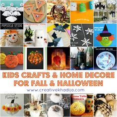Fall and Halloween Crafts for Kids. kids crafts for fall & Halloween. fall decore ideas. crafting with kids. Creative collections at creative khadija blog.