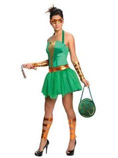 Women's TMNT Michelangelo Costume - SpicyLegs.com
