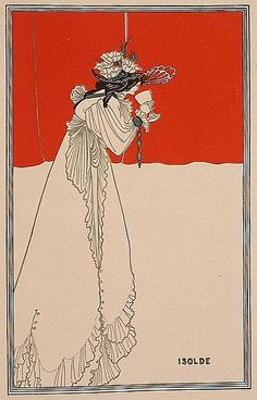 Aubrey Beardsley - I like it when there are two main colors, like red and white here, split up this way
