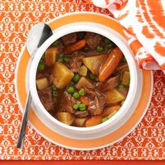 Slow Cooker Beef Vegetable Stew Recipe from Taste of Home -- shared by Marcella West of Washburn, Illinois