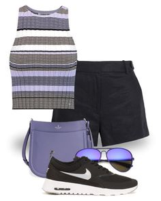"""Style It in Purple & Black! (outfit only) 2058"" by boxthoughts ❤ liked on Polyvore featuring J.Crew, Elizabeth and James, Kate Spade and NIKE"