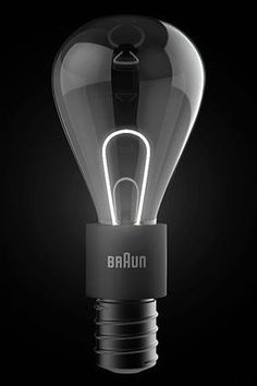 Lit-Light Bulb Concept... Braun Product.