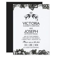 Choose which item you would like to customize online. This suite is preferred by couples with gothic, tattoo, medieval, renaissance or Halloween wedding themes. This design is beautiful printed on pearl shimmer stock.