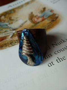 Snake wooden ring £8.00