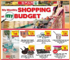 A new concept in monthly shopping! SPAR India has introduced 'My Monthly Shopping At My Budget' to help you shop smarter. This special offer will enable you to SAVE money when you're doing your monthly shopping at SPAR Hypermarkets. Offers are valid till Sept 7th only!