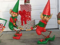 Paper mâché elves.   Really cute how to