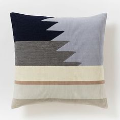 Embroidered Horizon Pillow Cover #westelm