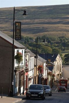 Broad Street, the main shopping street in Blaenavon Heritage Town. Good out Time with Dad! Britain Uk, Great Britain, Story Of The World, Shopping Street, Cymru, South Wales, World Heritage Sites, Fathers, Scotland