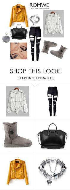 """""""cool"""" by kaja-232 ❤ liked on Polyvore featuring WithChic, UGG, Givenchy and Adrienne Landau"""