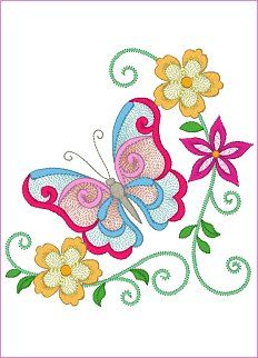6 x Butterfly Floral Designs Elements: 5 x ; 11 x & 3 x Minimum hoop size: These designs can be used with or without mylar. Butterfly Painting, Butterfly Art, Butterflies, Applique Embroidery Designs, Free Machine Embroidery Designs, Glass Painting Designs, Sewing Machine Embroidery, Janome, Beading Patterns