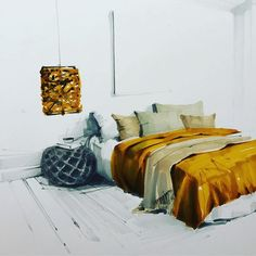 Ideas Bedroom Interior Render For 2019 Interior Architecture Drawing, Interior Design Renderings, Best Interior Design Websites, Drawing Interior, Interior Rendering, Interior Sketch, Interior And Exterior, Architecture Design, Industrial Design Sketch