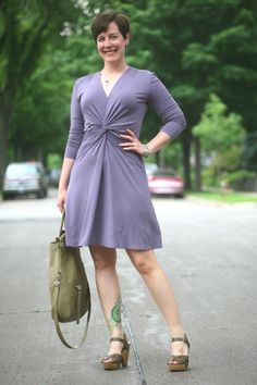Already Pretty outfit featuring Reality in Style Bob dress, olive green sandals, Foley + Corinna Mid-City Tote