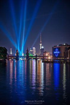 Light show in Berlin.