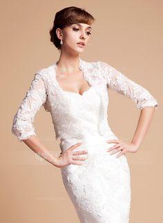 Wraps - $46.99 - Half-Sleeve Lace Wedding Wrap (013014587) http://jjshouse.com/Half-Sleeve-Lace-Wedding-Wrap-013014587-g14587