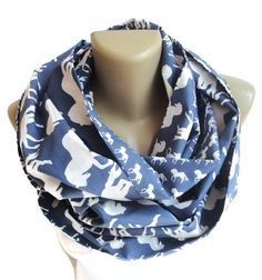 white horse scarf women scarf infinity scarf by senoAccessory #scarf #scarves #infinity