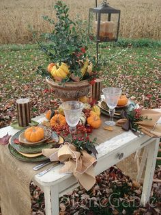 StoneGable: fall table setting