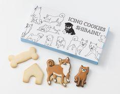 SHIBAINU cookie☆ Milk Cookies, Sugar Cookies, Food Packaging, Packaging Design, Japanese Sweets, Stationery Paper, Stickers, Shiba Inu, Dog Art