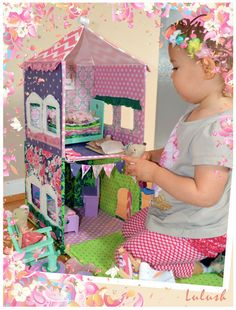 Two Story Fabric Dollhouse Pattern by lulush on Etsy