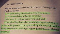 Seth Godin Success Quote
