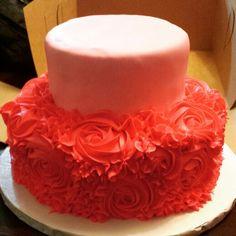 Roses, pink, girly cake
