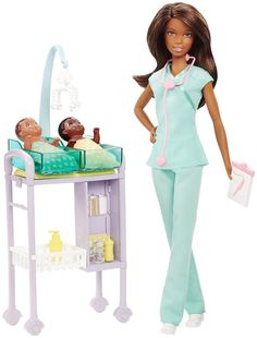 Barbie Careers African American Baby Doctor Doll and Playset