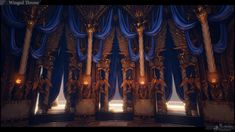 throne room winged fantasy polycount castle desmera place winner 1st anime concept visit artwork hd