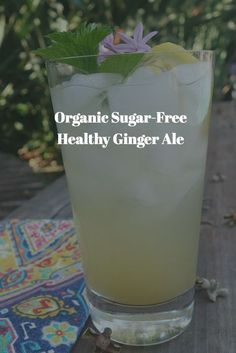 My zesty healthy sugar-free ginger ale is the perfect thirst-quenching summer drink. Made with fresh ginger, it helps with digestion issues, and is a great alternative to regular soda.