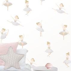 Vinilo infantil de Bailarinas para niñas en suaves grises. Decora la habitación infantil Paper Art, Baby, Home Decor, Decoration, Bedroom Decor, Kids Rooms, Decorating Rooms, Little Girl Ballerina, Bedroom Wall