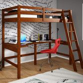 Found it at Wayfair - Donco Kids Twin Loft Bed with Double Shelves