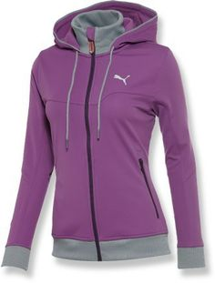 PUMA Soft-Shell Full-Zip Hooded Jacket - Women\'s - 2013 Closeout #runninggear #wishlist
