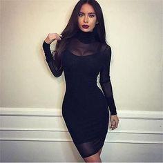Black Jacobs Mesh Dress
