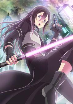 Gun Gale Online Kirito Asuna, Kirito Sword, Kirito Kirigaya, Sword Art Online, Online Art, I Love Anime, All Anime, Anime Stuff, Light Novel