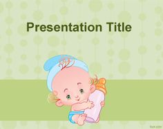 Feeding baby PowerPoint template is a free PPT template with a baby for feeding baby presentations