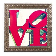 Trademark Fine Art love Canvas Art by Philippe Hugonnard, Gold Ornate Frame, Size: 16 x 16, Green