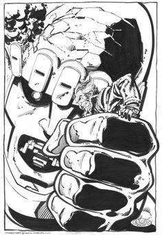 John Byrne Original x Men 142 Days of Future Past Cover Commision Comic Book Artists, Comic Artist, Comic Books Art, Wolverine Art, Artist Pencils, John Byrne, Man Thing Marvel, Comic Kunst, The Uncanny