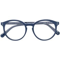 Stella McCartney rounded glasses (€235) ❤ liked on Polyvore featuring accessories, eyewear, eyeglasses, blue, rounded glasses, acetate glasses, stella mccartney eyewear, lens glasses and round eye glasses