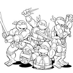 Funny Ninja Turtles Coloring Pages