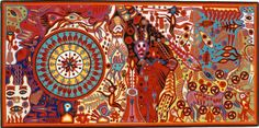 South American Folk Art | important and rare large format work originating from the artists peak ...