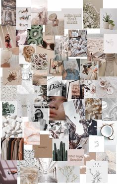 60 pcs Simple Boho Aesthetic Wall Collage Kit