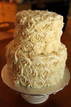 the cake box: Simple rose wedding cake