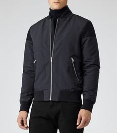 Jacket inspiration ...Mens Navy Short Bomber Jacket - Reiss Hardcourt