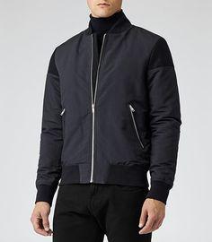 Jacket inspiration ...Mens Navy Short Bomber Jacket - Reiss Hardcourt