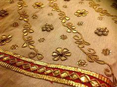 Zardosi Embroidery, Hand Work Embroidery, Embroidery Suits, Lace Embroidery, Embroidery Patterns, Indian Wedding Fashion, Pakistani Wedding Outfits, Pakistani Dresses, Gota Patti Suits