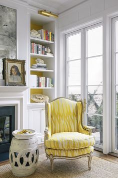 Christopher Farr Breakwater in Lemon on Chair